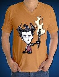 Baskılı V Yaka Tişört
