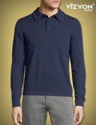 Uzun Kollu Polo Yaka Tişört