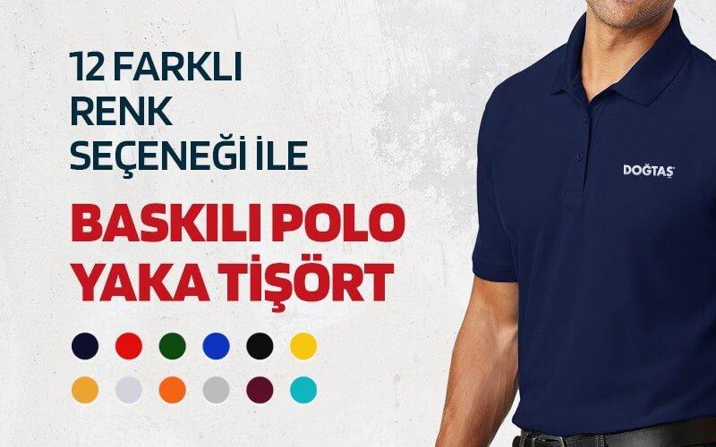 Baskılı Polo Yaka Tişört